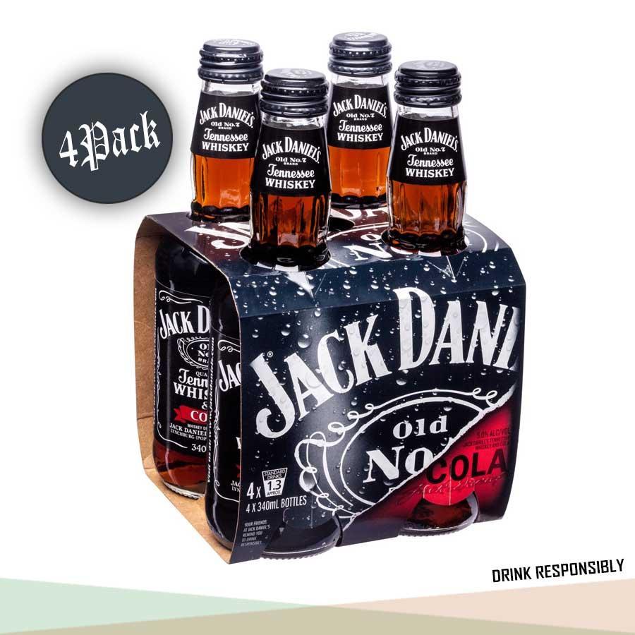 Jack Daniel's Whiskey & Cola 330ml x 4 PACK / USA