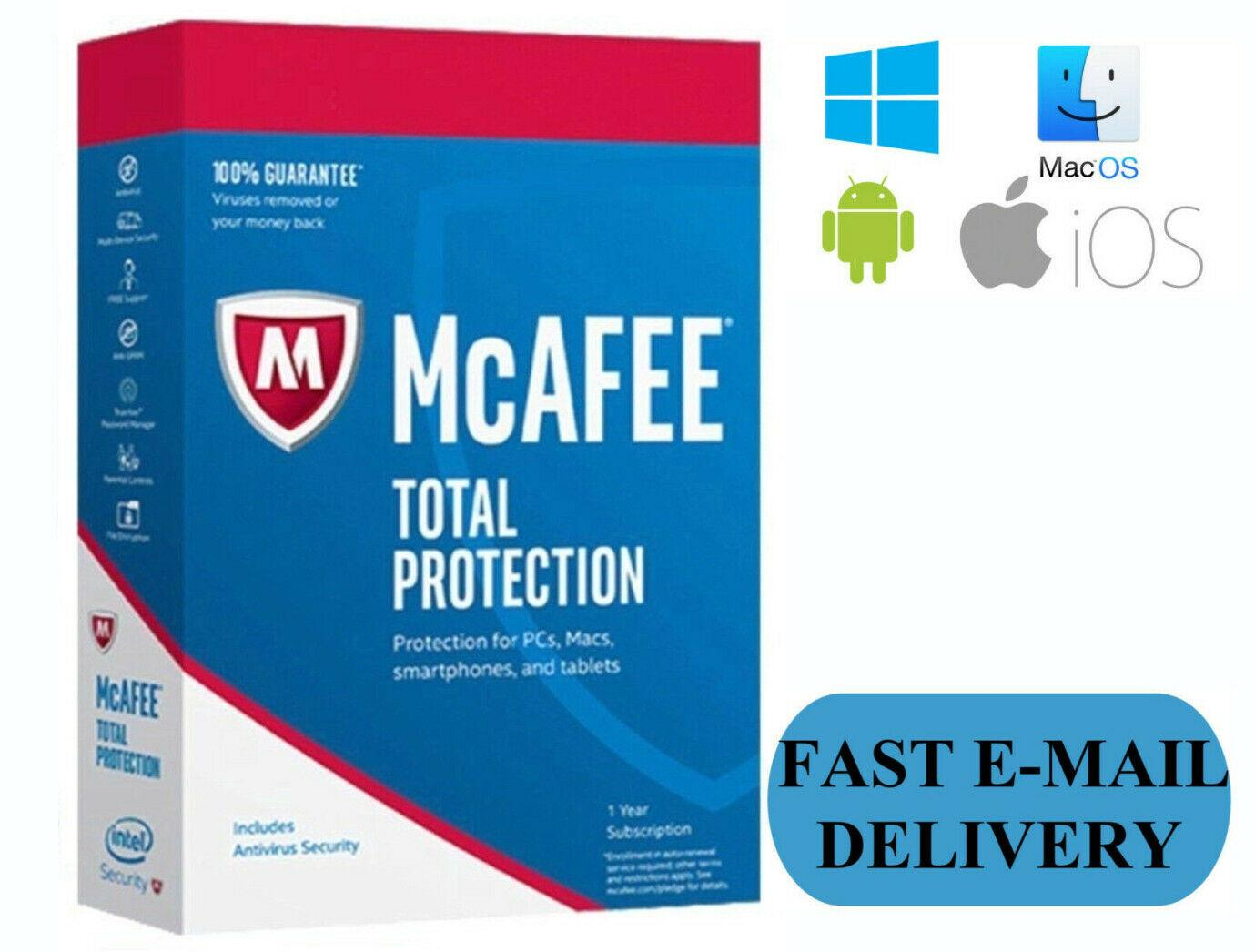 McAfee Total Protection License Key for 5 Years (Windows Only)