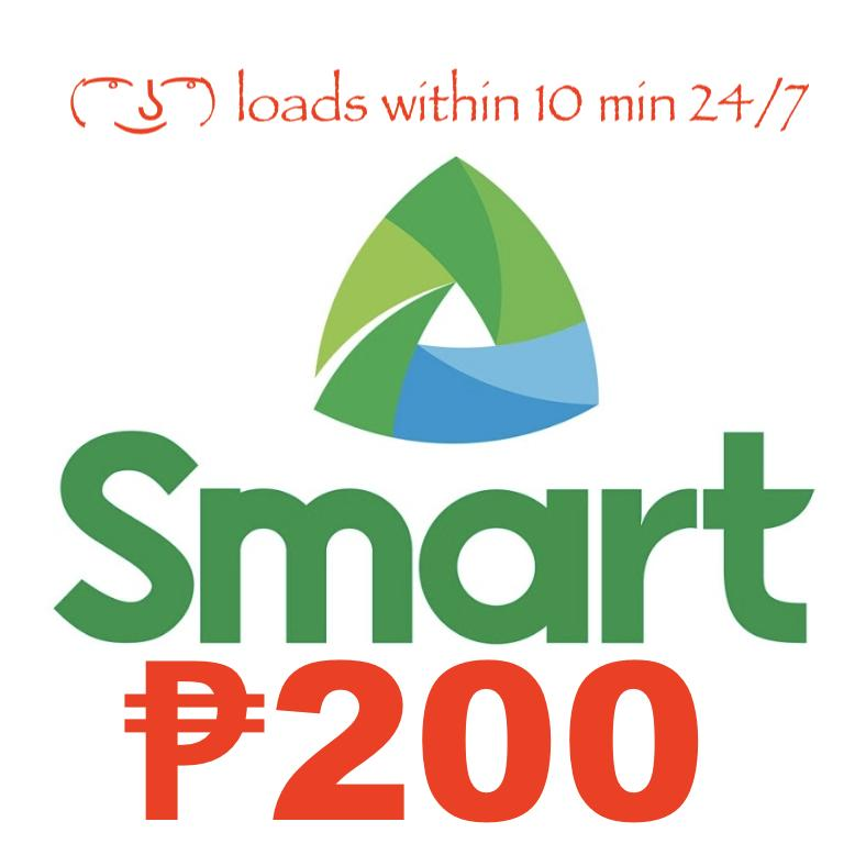 Smart / Tnt Regular Mobile Load 200 Pesos By Acts29.