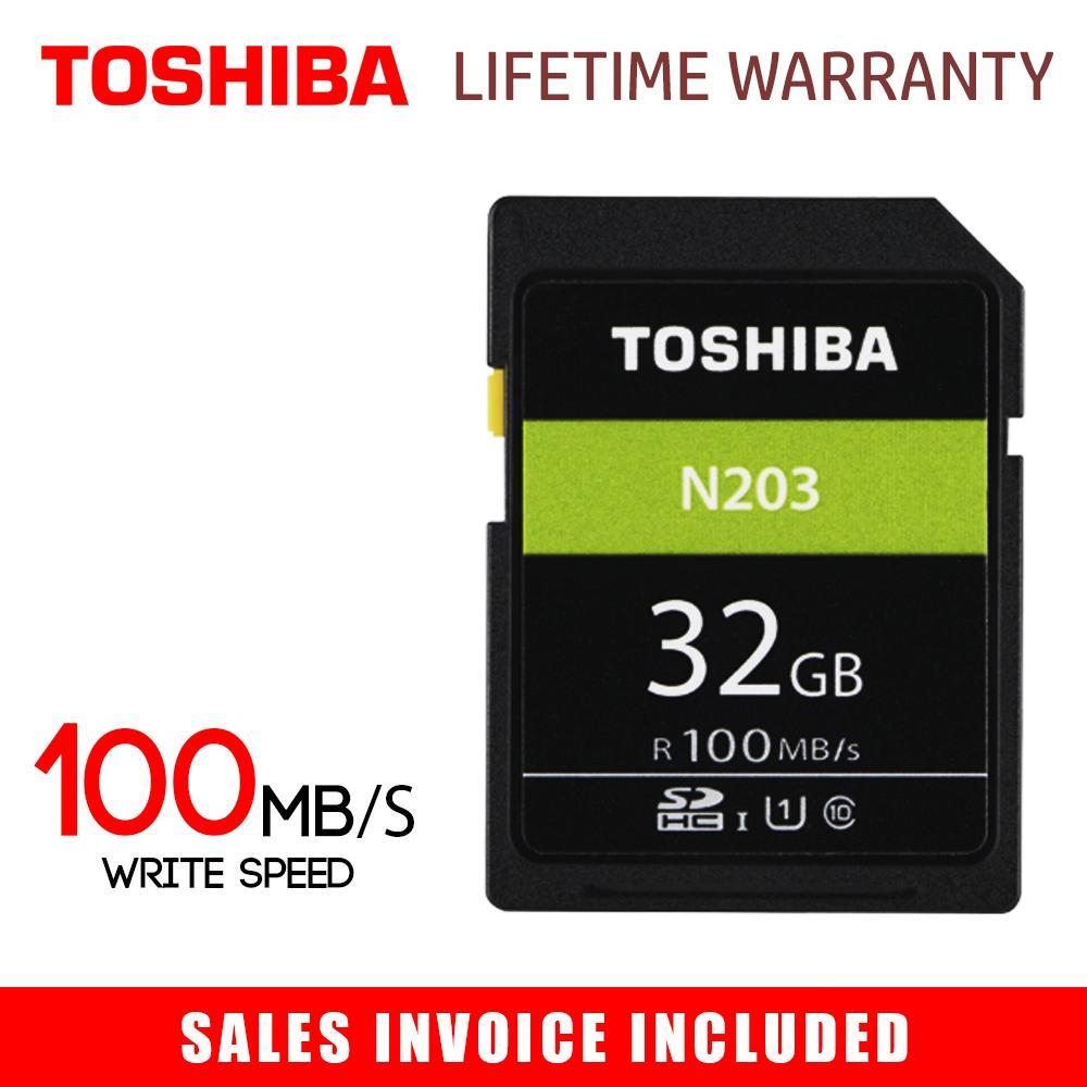 Toshiba 32GB SD Card N203 SDHC UHS-I Card U1 Class 10 DSLR Camera Memory  Card (Speed up to 100MB/s)