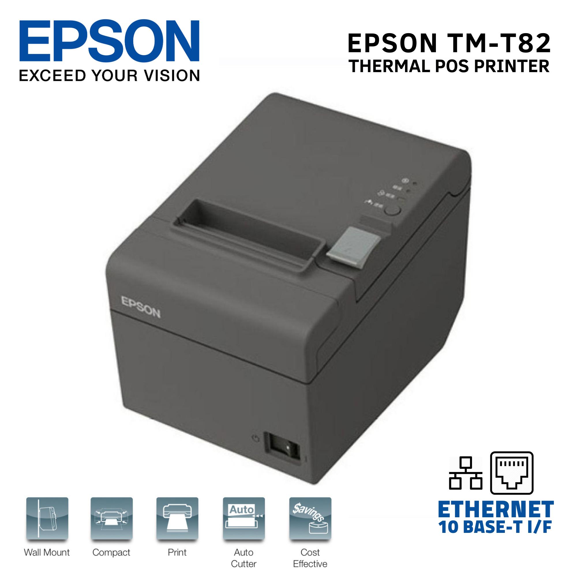 Epson Tm T82 Thermal Pos Receipt Printer Usb Ethernet 10 Base T Interface Lazada Ph