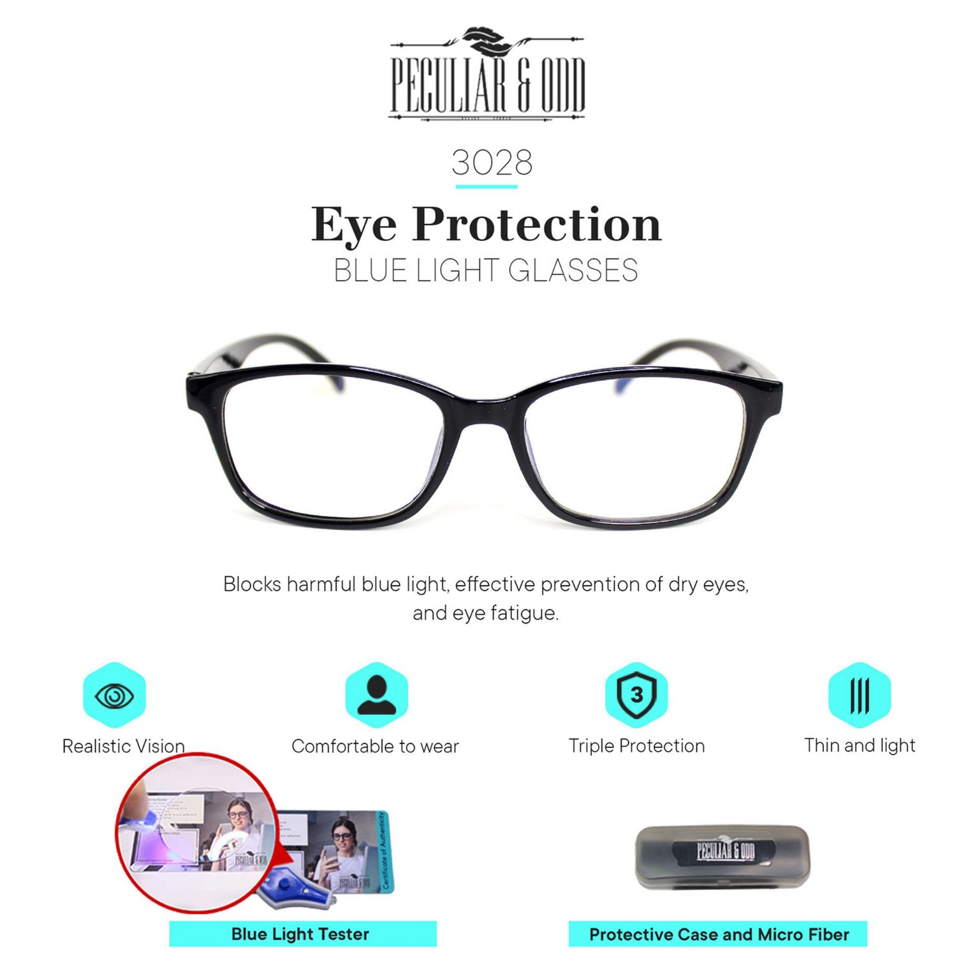 Peculiar Square 3028_CoalBlackClear Anti Radiation Computer Optical  Replaceable for Prescription _new Eyewear / Eyeglass- Peculiar and Odd  Collection