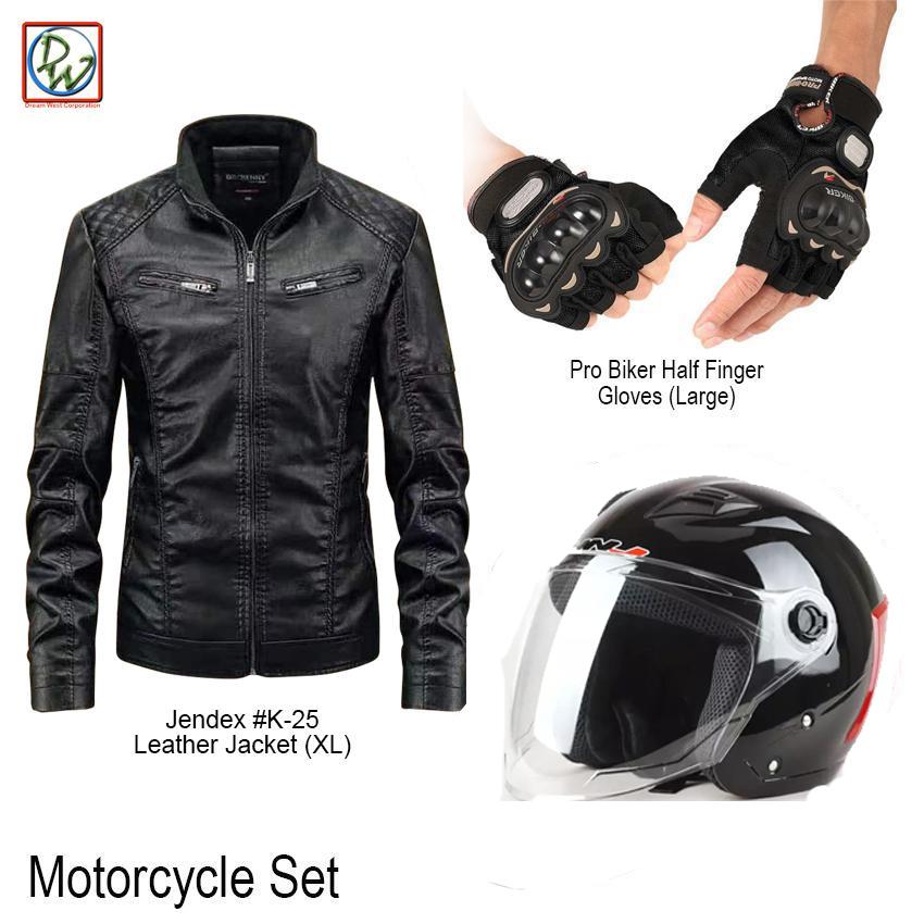 Outlaw Motorcycle Biker DOT Approved Half Helmet Glossy Black Large