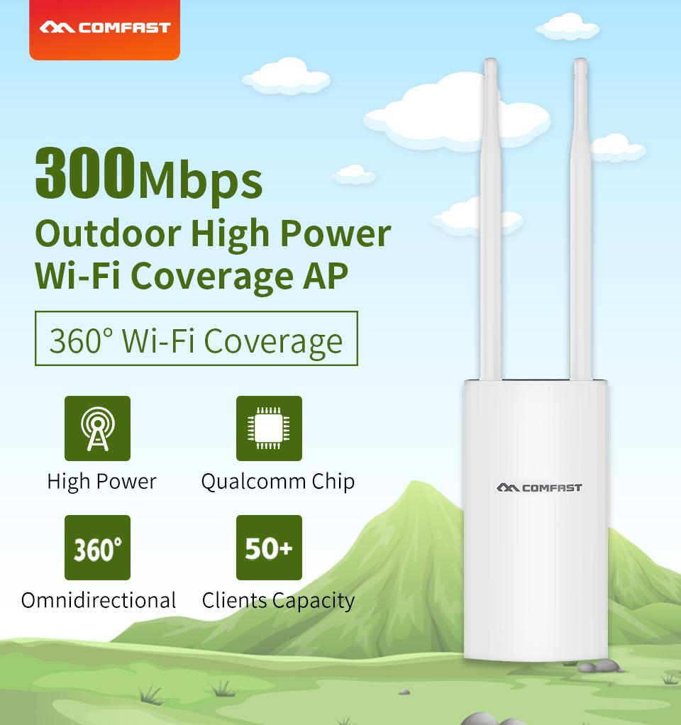 2019 New Comfast Cf-Ew71 360° 300mbps High Power Wifi Coverage Outdoor Wireless Ap Base Station 300mbps Wi-Fi Ethernet Access Point Wifi Bridge Ap Router Antenna By Joyfeel-Store.