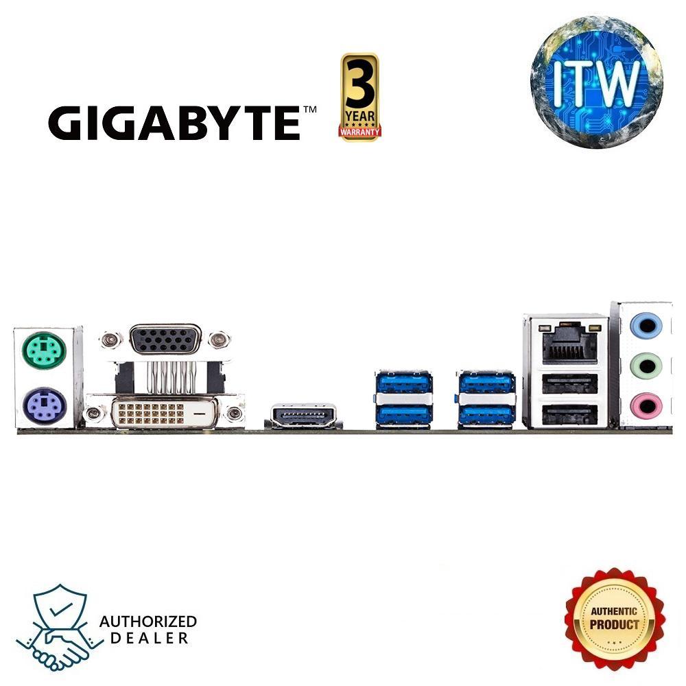 Gigabyte GA-A320M-S2H V2 AMD Ryzen AM4 MicroATX Motherboard (AMD Ryzen AM4  / MicroATX / 2xDDR4/ HDMI/ Realtek ALC887/ 3xPCIe/ USB3 1 Gen 1/ LAN)