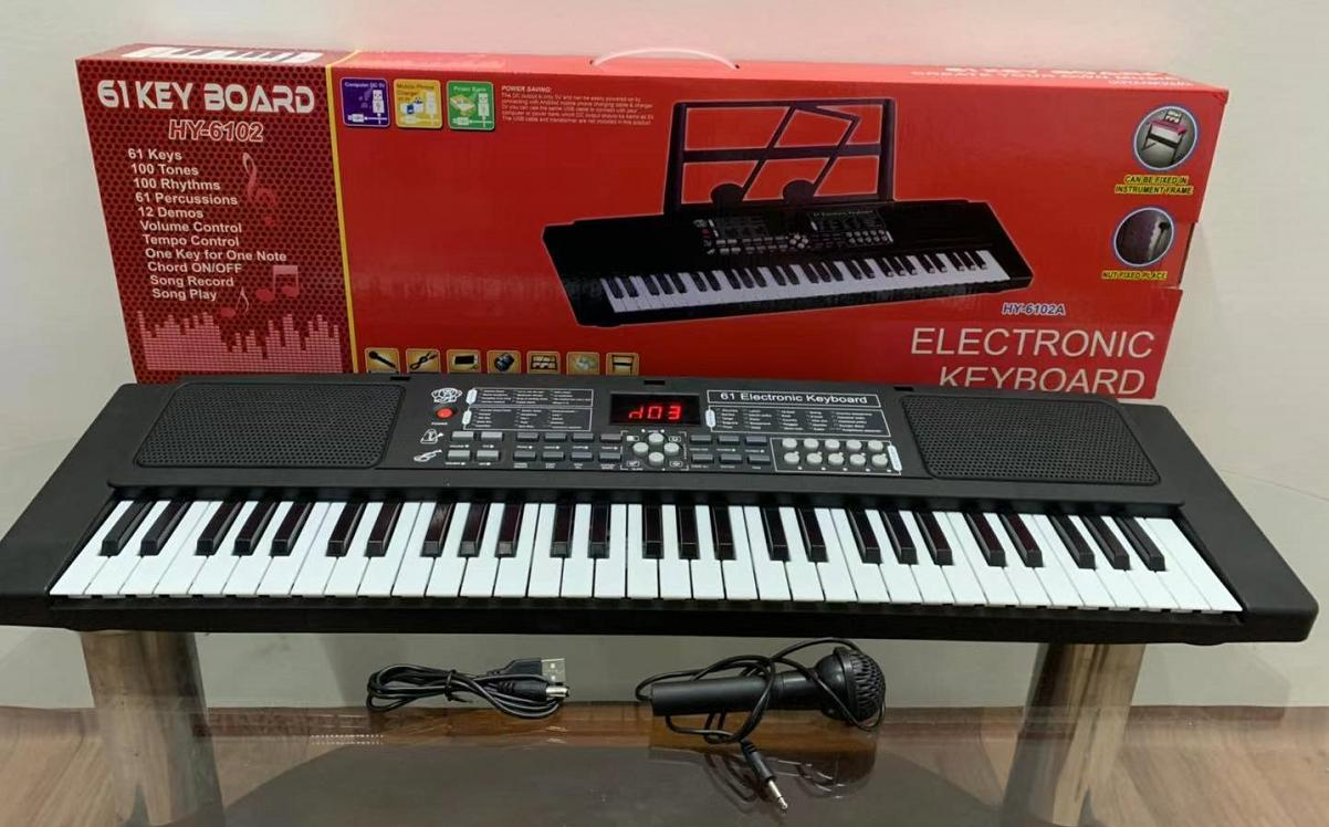 Electronic Thin Piano 61 Keys without Stand with Small microphone