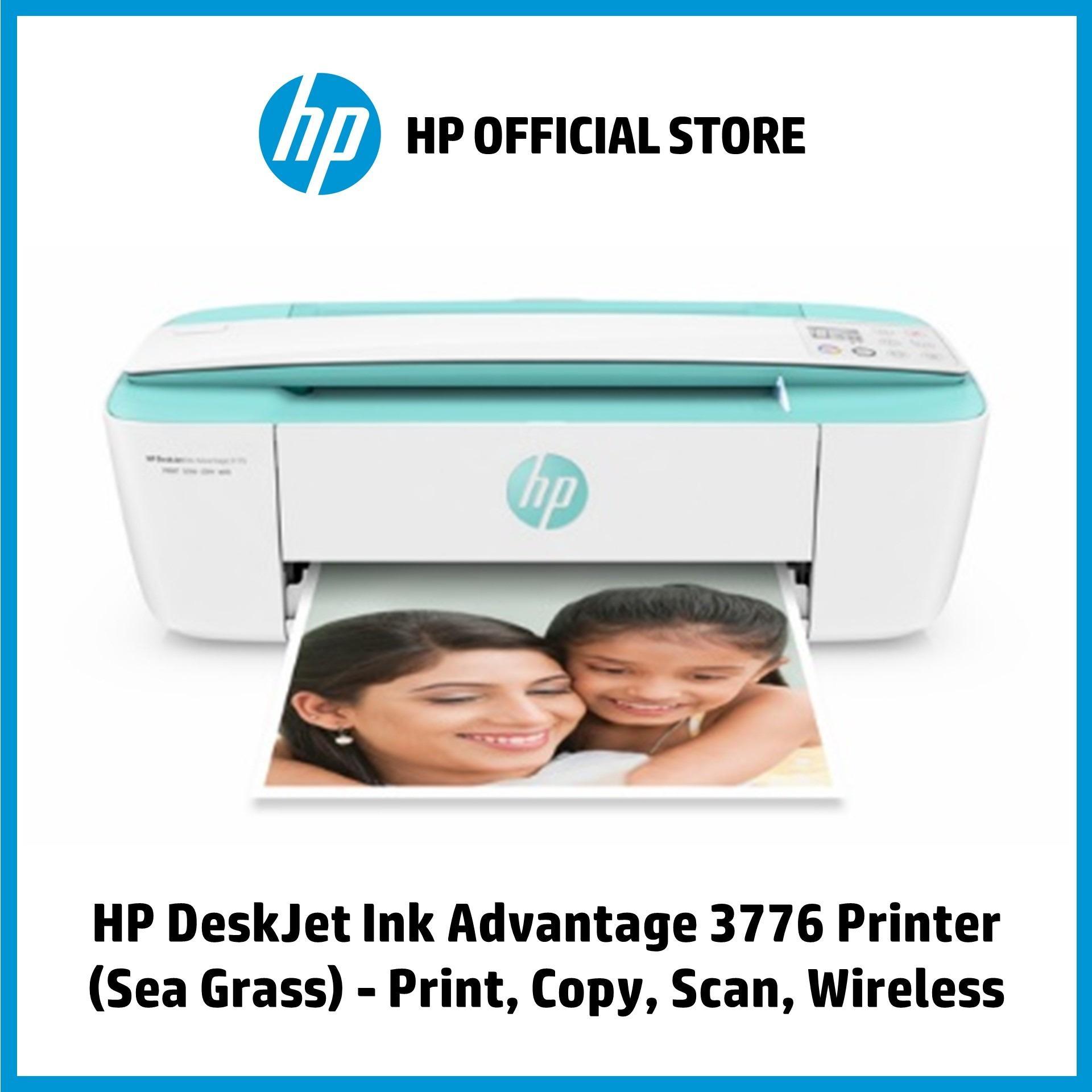 HP DeskJet Ink Advantage 3776 Printer (Sea Grass) - Print, Copy, Scan,  Wireless