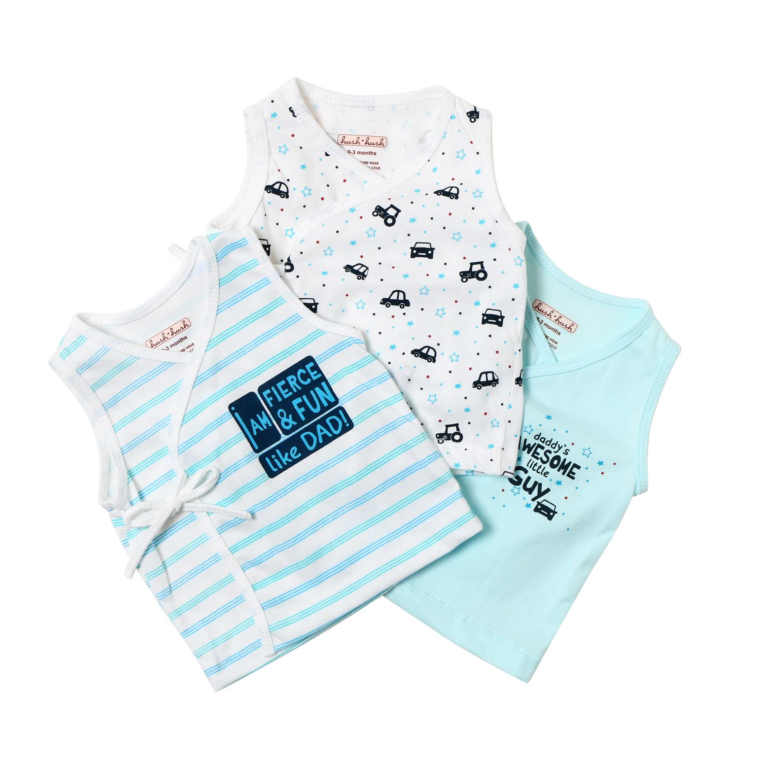 7718ccdd938d7 Hush Hush Baby Boys 3-piece Awesome Little Guy Tie-side Top Set