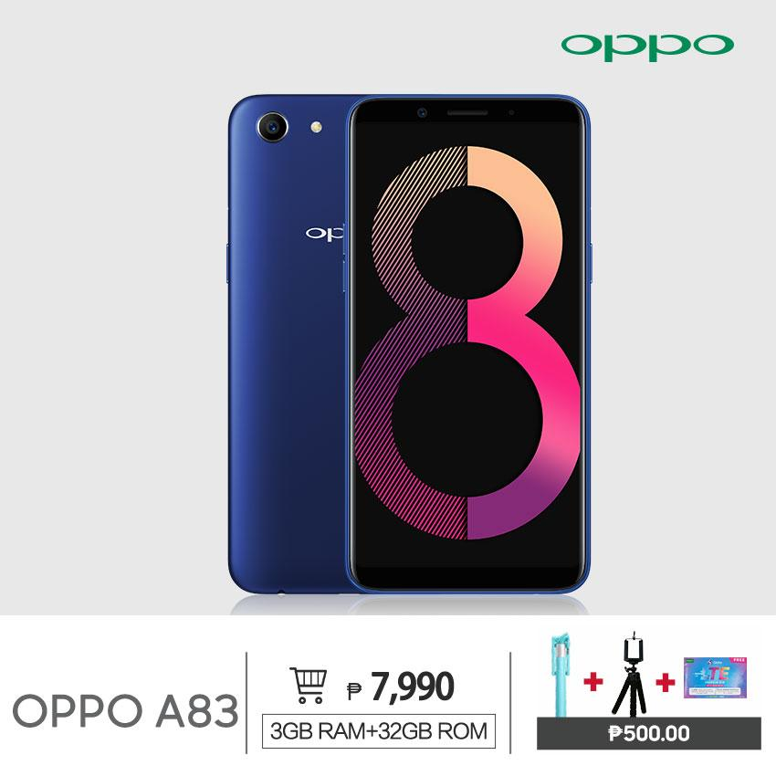 OPPO A83 3GB/32GB Christmas Bundle 3,180mah Battery 8MP AI Front Camera  Dual Sim