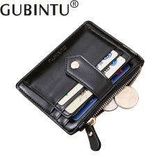 b408a326decf2 100% High Quality GUBINTU Men s Mini Zipper Leather Credit Card ID Coin  Holder Money Clip