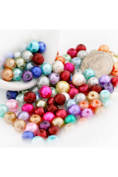 200pcs Round Glass Pearl Spacer Beads 6x6x6mm Assorted