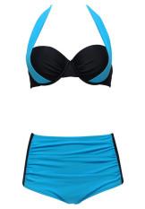 98738cfdabe 2016 New Sexy Bikinis Women Swimsuit High Waisted Bathing Suits Swim Halter  Top Push Up Bikini