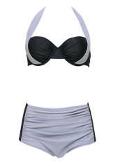 756cf376ac84d 2016 New Sexy Bikinis Women Swimsuit High Waisted Bathing Suits Swim Halter  Top Push Up Bikini