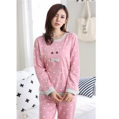 045ff06d99 2017 Fashion Long-sleeve Spring Autumn Ladies Cotton Pajamas Women Lovely  Leisure Suits Cotton Sleepwear
