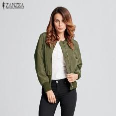 758a37cec3c 2017 Fashion Women Coats Stand Collar Winter Coat Bomber Jacket Long Sleeve  Rib-knit Cuff