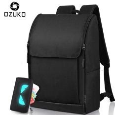 7d6ce9da01f5 2017 OZUKO Brand Simple Men Waterproof Backpack 15.6 Inch Laptop Backpacks  Men Women Mochila Casual Travel