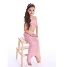 2018 Lovely Girl Kids Swimmable Mermaid Tail Swimwear Children Bikini Set Bathing Suit Swimsuit Beach Wear