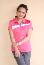 361 Degrees Cross Series Polo Shirt (Pink)
