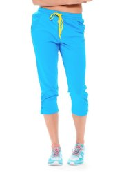 361 Degrees Cross Training Knitted Cropped Pants (Blue)