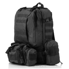 New Style! 50l Molle Tactical Outdoor Assault Military Rucksacks Backpack Camping Bag New-Black By Qualife.