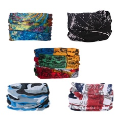 5pcs Multifunctional Headband Sport Magic-Style Headwear Outdoor Sports Bicycle Equipment Bandana Scarf Colorful Series By Jelly Store.