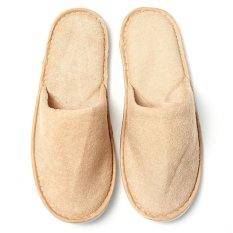 5PCS Women Men Disposable Slippers Towelling Hotel Slippers SPA Shoes Guest BEIGE - intl
