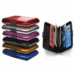 6pcs Mix Colors of Aluminum RFID Blocking Hard Case Security Credit Cards Wallet