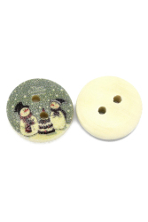 8YEARS B28750 Christmas Buttons Set Of 100 (Green)
