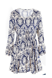 969 Women's Dresses Chiffon Floral Casual (Blue)