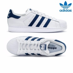 Adidas New Originals SuperStar BZ0190 Unisex Classic Shoes White/Navy - intl