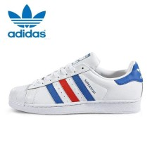Adidas Originals Superstar Casual Shoes BB2246 White/Blue/Red - intl