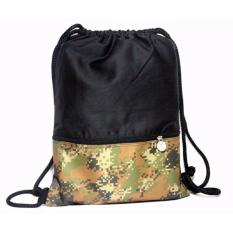 Adventure Draw String bag black army