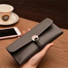 Amart Fashion Korean Women Long Purse Leather Clutch Bags Zipped Card Holder Wallet Coin Bag For