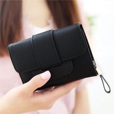 Amart Fashion Korean Women Wallet PU Leather Zipped Coin Purse Fold Card Holder Clutch Bag Big