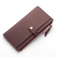 Amart Fashion Women PU Leather Zipper Wallet Thin Coin Credit Card Handbag - intl