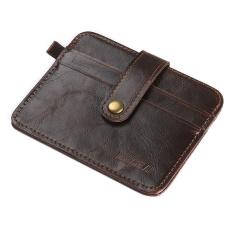 Amart Korea Fashion Men Mini Hasp Small Purse PU Leather Wallet Purses Clutch Cards Holder Bags