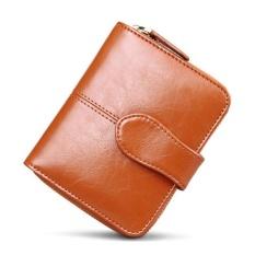 Amart Korean Simple Fashion Women Mini Purse PU Leather Solid Color Zipped Clutch Bag Card Holder