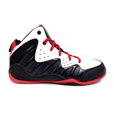 And1 Free for All Junior Basketball Shoes (Wht/ Blk/ Red)