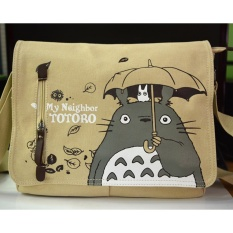 392ff1c1a36a Anime My Neighbor Totoro Women Canvas Messenger Bag Shoulder Bag Sling Pack  My Neighbor Totoro Handbag
