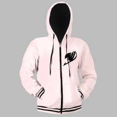 Anime Zone Fairy Tail Cosplay Hoodie Outdoor Zip-Up Jacket (white/ Black) By Anime Zone.