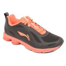 Arhh086 1 Li Ning Bow Cushion Running Shoes Ink Black Flash Pinkred