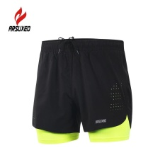 Arsuxeo Men s 2-in-1 Running Shorts Quick Drying Breathable Active Training  Exercise Jogging 12eef6c7f