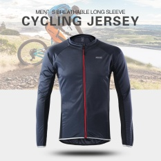 Arsuxeo Outdoor Sports Cycling Jersey Bike Bicycle Full Zip Long Sleeve  Shirt MTB Bike Riding Clothing 4180bbabc