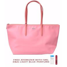 the latest d9cc6 2472a Authentic Lacoste Women's Concept Large Shopping Bag with freebies (Light  Pink)