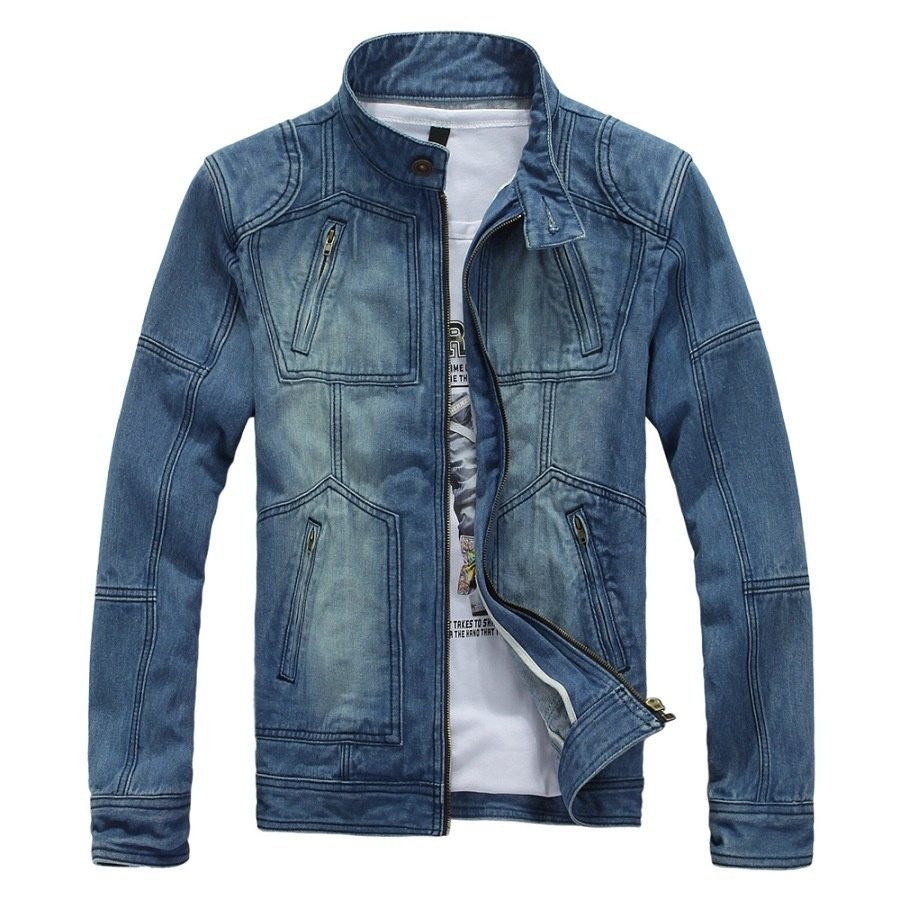 892cb4e9ce3 Autumn and Winter New Men  s Denim Jacket Hats Cowboy Clothing Men  S Tide