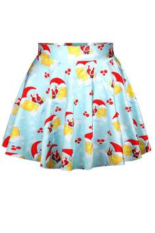Azone Women's Fashion Lovely Christmas Santa Short Skirt Mini Dress (Blue) (Intl)