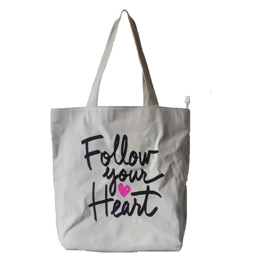 Bath and Body Works Follow Your Heart Tote Bag (Beige)