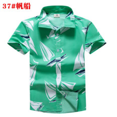 ae429c051a2d Summer Hainan-Flops Beach Shirt Quick-Drying Men s Short Sleeve Large Size  Costume Sanya