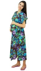 ad44f71fa9c25 Bimba Nursing Kaftan Cotton Maternity Night Gown Hospital Delivery Gown  Front & Side Buttons With Belt