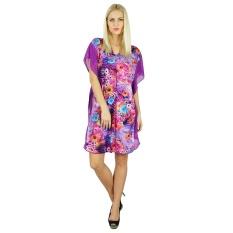 6f20bfa2da Bimba Womens Polyester Purple Kaftan Beach Cover Up Short Floral Caftan,  Purple - intl
